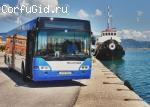 Автобусное сообщение на Корфу