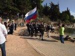 Торжественное шествие у памятника Ушакову